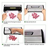 [Aktualisiert] Vakuumierer, Crenova VS100S - Vakuumiergerät für Nahrungsmittel, manuelle Pausenfunktion für brüchige Lebensmittel, +10 gratis Profi-Folienbeutel - 3