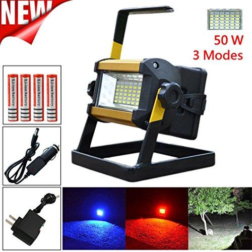 HARRYSTORE 50W 36 LED Tragbar Wiederaufladbar Flut Licht ()