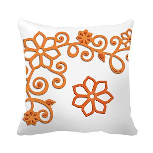 Dkisee 45,7x 45,7cm trois Dimensions Fleurs Couvre-lit décoratif Taie d'oreiller Housse de...