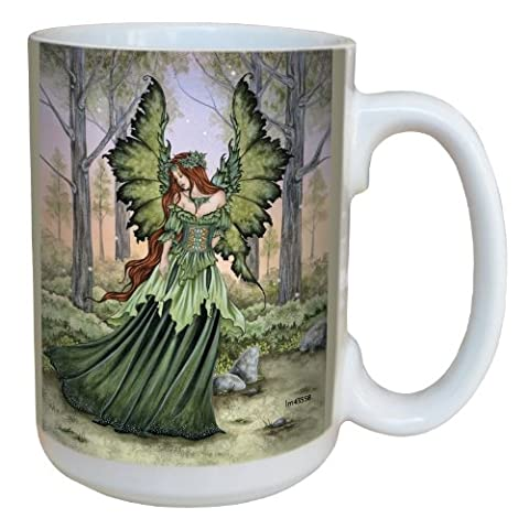 Tree-Free Greetings lm43558 15 oz Fantasy Lady of the Forest Fairy Ceramic Mug with Full Sized
