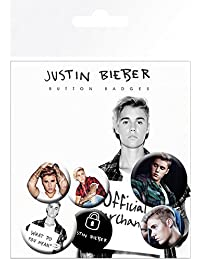 Justin Bieber Official Button Badges (Pack Of 6)