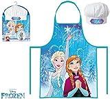 Die Eiskönigin Anna und Elsa Kinder Chefkoch Set 2 tlg. Kochmütze und Kochschürze