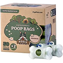 pogi 's hundekot Bolsa–50bolsas de ruedas (750) + 2dispensador–Grandes, biodegradables, variadas, tropfsichere perro etüten