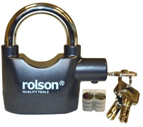Rolson 66857 - Candado Seguridad Llave Alarma Funciona