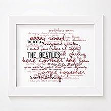 'Zephyr' Diseño de - THE BEATLES - Abbey Road - firmados y numerados Edición limitada álbum de almacenar sin bastidor 10 x 20,32 cm decorativo - Póster de con letra de la canción letras