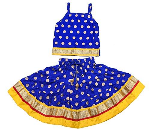 Disha Baby Girl's Viscose Lehenga Choli (Blue,18-24 Months)