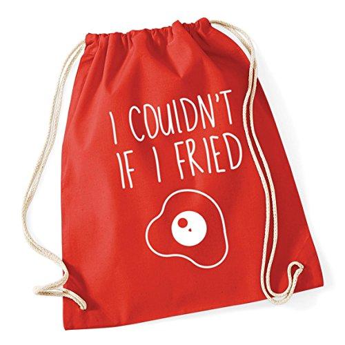 HippoWarehouse I Couldn't If I Fried Drawstring Cotton School Gym Kid Bag Sack 37cm x 46cm, 12 litres