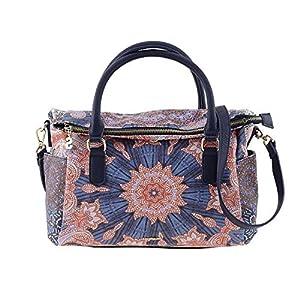 Desigual BOLS AFRO LOVERTY Handtaschen damen Blau/Rose Handtasche