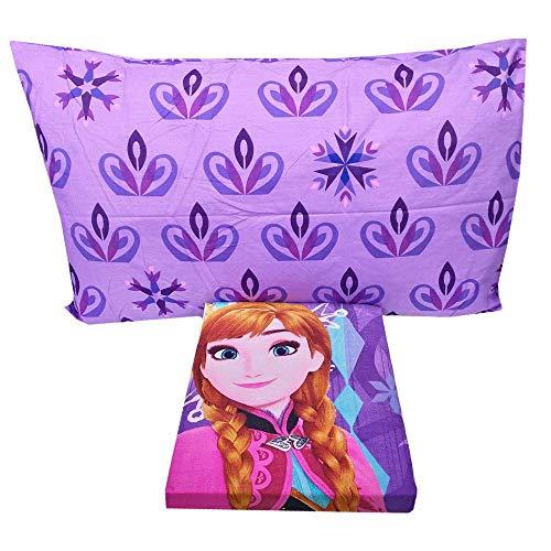 Juego de sábanas de algodón para cama individual de 1 plaza, estampado con motivo de Frozen
