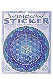 lillybox Fenstersticker, Fensterbild Mandala, zweiseitig in Blautönen, Yantra, Lotus, Lebensblume