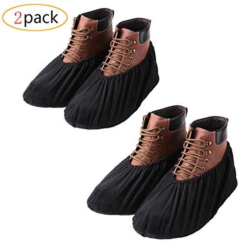 YOUTU Anti-Rutsch Schuhüberzieher,überschuhe überzieher Schuhüberzieher Shoe Cover Hülle,wiederverwendbar überschuhe Staubfrei,Für die meisten erwachsenen, unisex (2 Paare)