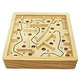 IU Desert Rose Artículos para el hogar Laberinto Educativo de Madera Tradicional Laberinto 3D Niños Juego de Rompecabezas Juego de Mesa con Pelota (Color : 20 Levels, tamaño : 11.5x11.5x2.5cm)