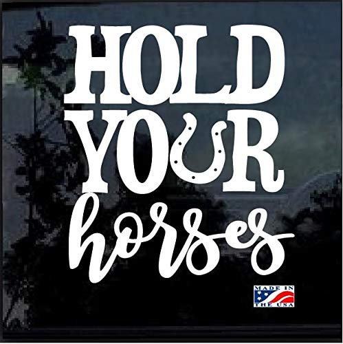 SUPERSTICKI hold Your Horses ca 30 cm Tuning Decal Racing Sport Aufkleber Autoaufkleber Wandtattoo