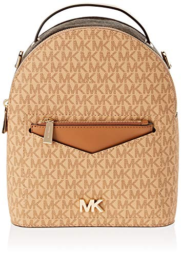 Michael Kors - Sm Conv Backpack, Bolsos mochila Mujer, Multicolor (Brnbtrnacr), 10x25x21 cm (W x H L)