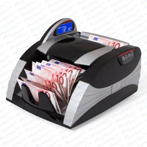 Geldscheinzählmaschine Geldscheinzähler Stückzahlzähler SR-1500 LCD UV/MG/IR