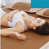 QINQIN Pieghevole rattan Stuoia di estate, Pelle-amichevole traspirante tre pezzi Stuoia di ghiaccio Cool pad tappetino aria condizionata salute stuoia sonno -B 180x195cm(71x77inch)