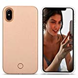 iPhone XS Max LED Coque – Avkkey iPhone XS Max Selfie Light iPhone Coque Idéal...