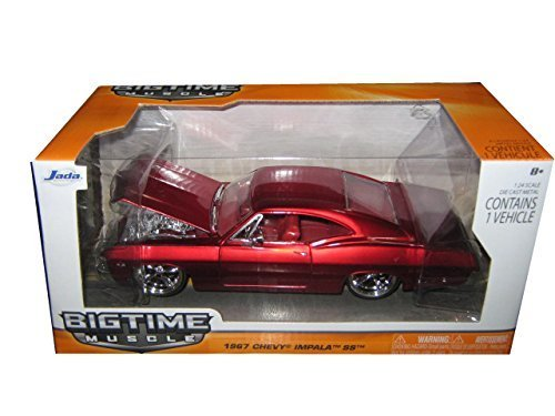 1967-chevrolet-impala-ss-red-1-24-by-jada-96985-by-jada