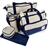 5tlg Babytasche Set Pflegetasche Tragetasche Wickeltasche Windeltasche Kinder Baby Blau