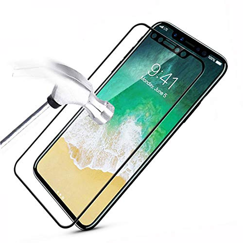 Panzerglas Schutzfolie kompatibel Full Cover Tempered Glass 9H for iPhone XS Max XR X 8 4 4S 5 5S 5C SE 6 6S 7 7S Plus 10 6.1 6.5 Screen Protector New Film Case for iphone6 6s White