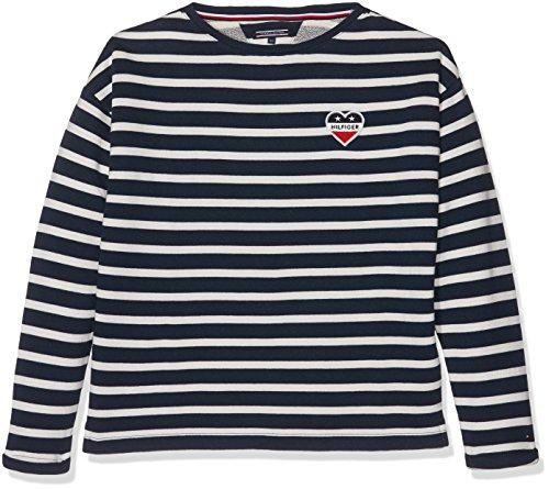 Tommy Hilfiger Baby Girls  AME Stripe BN HWK L S Sweatshirt, Blue (Navy  Blazer 431), 86 aaa72bb3dc0d