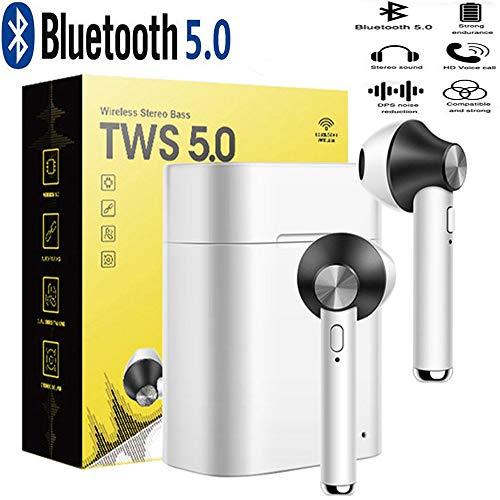 Écouteurs Bluetooth Compatible avec Crosscall Action X3 (5') -Mini Casque Bluetooth Écouteurs sans Fil TWS 5.0 - Casque Qualité Musicale supérieure ! Couleur Noir