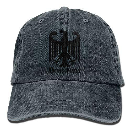 Outdoor-kondensator (QIOOJ Cowboyhut Deutschland German Unisex Denim Baseball Cap Adjustable Strap Low Profile Plain Hats Outdoor Casquette Snapback Hats Ash)