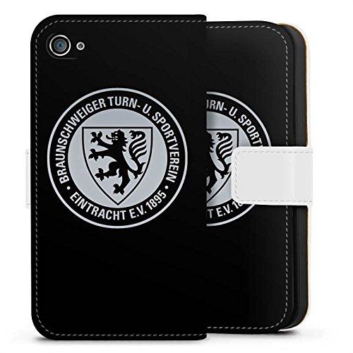 Apple iPhone 7 Hülle Case Handyhülle Eintracht Braunschweig Fanartikel BTSV Fußball Sideflip Tasche weiß