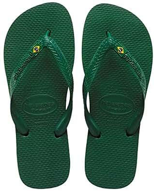Havaianas Brasil Amazonia Green Mens/Womens Flip Flops Size UK 5 (BR 37/38)