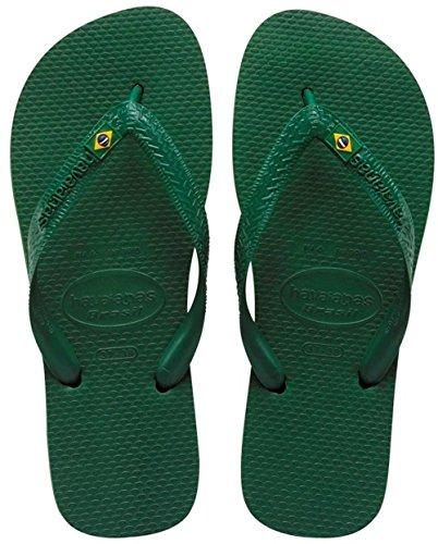 Havaianas Brasil 4000032 Unisex-Erwachsene Zehentrenner, Grün (Brasil Amazonia), 47/48 EU (45/46 Brazilian) (Brasilien Schuhe)