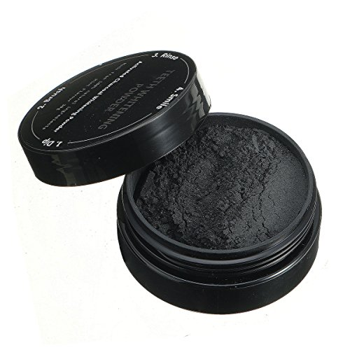 Teeth Whitening Powder, BINKBANGBANGDA Activated Charcoal Teeth Whitening 100% natürliche organische Aktivkohle Zahnpasta Zähne Mundpflege Zahnaufhellung Pulver 30g(schwarz) (Power Whitening Zahnbürste)