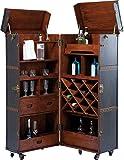Kare Design Schrankkoffer Bar Colonial, Barkoffer im Kolonialstil, Braun (H/B/T) 154x61x61cm