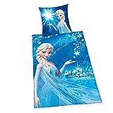 Herding Disney's Die Eiskönigin Bettwäsche, Baumwolle, blau, Deutsche Größe