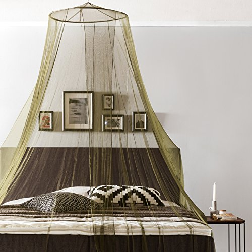 Lumaland Moskitonetz Mückennetz Insektenabwehr rund 65 x 250 x 400 cm Indoor Outdoor Reise travel waschbar Polyester