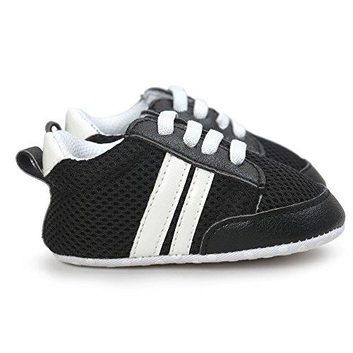 Chaussures Bébé Binggong Chaussure De Sport en Cuir Souple Anti-dérapant Premiers Pas Respiran pour Garçon Fille Nourrisson,Baskets Basses Mixte