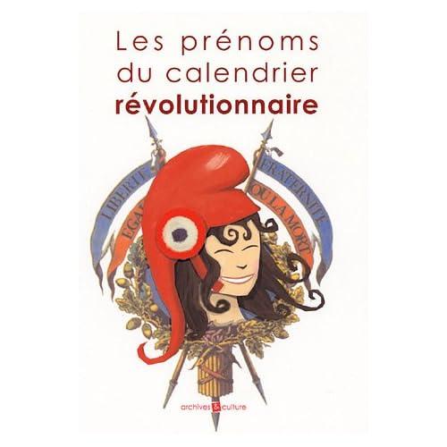 Les prénoms du calendrier révolutionnaire