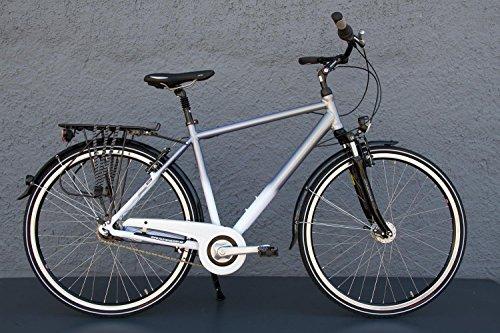 "28\"" Zoll Alu MIFA Herren City Bike Fahrrad Shimano Nexus 7 Gang Nabendynamo Weiss/Silber"