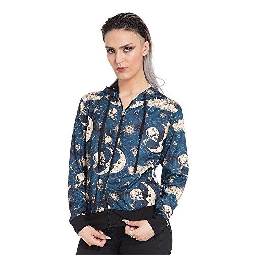 Felpa hoodie moonstone jawbreaker (blu/giallo) - small