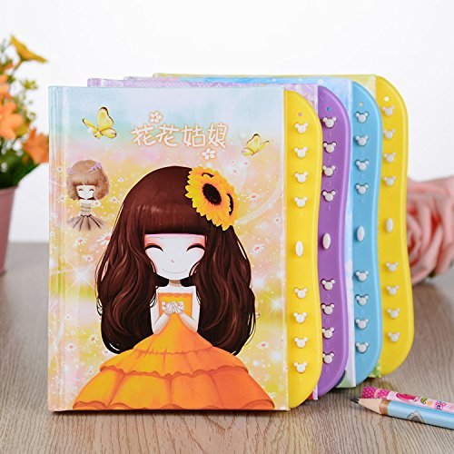 Gifts-Online-Kids-Secret-Password-Lock-Diary-Set-of-6