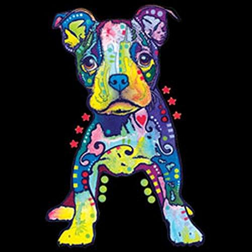 Hunde T-Shirt Hundefreunde Hundemotiv - Geschenk Geburtstag Weihnachten Papa Mama Neon Motiv On My Own Schwarz