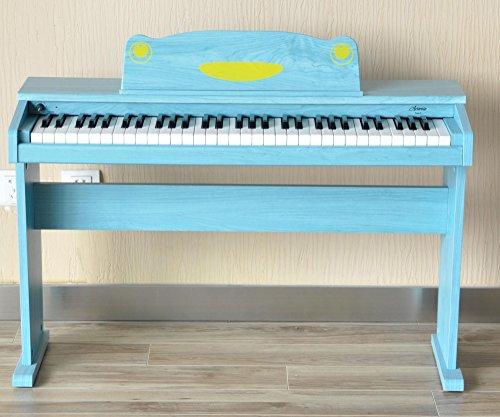 Artesia F-61BL Kinder Digitalpiano (E-Piano, Keyboard, Bank, Kopfhörer, 61 anschlagsdynamische Tasten, 8 Sounds, 1 Demo Song, 32-Fache Polyphonie, USB-Anschluss, inkl. Apps für Android und iOS) blau - 8