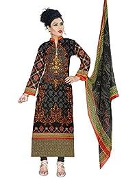 BalajiWomen's Cotton Unstitched dress material(1007-multicolor-free size)