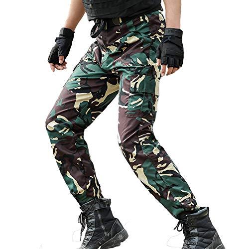 Pantaloni Tattici Pantaloni Cargo Uomini Pantaloni da Lavoro mimetici Pantaloni da Corsa Moda Uomo SWAT Esercito Militare Stile Camo Vestiti Cacciatore, S