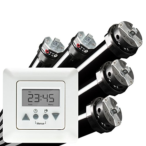 Preisvergleich Produktbild NOBILY *** PROFI-SET / Maxi - Rolladenmotor Rohrmotor Rolladenantrieb P5 50/12-60 (Zugkraft 115kg) + Vestamatic Time Control Zeitschaltuhr EAN 4260355821057