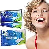 GARYOB 28 Teeth Whitening Strips Bandas Blanqueadoras Dientes Blanqueamiento de dientes tiras con avanzada tecnología antideslizante