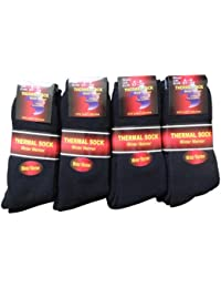 NEW 12 pairs Ladies/Girls thick Black Thermal socks UK size 4-6 EUR size 37-39
