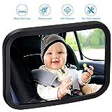 vitutech Rétroviseur Surveillance Bébé, Miroir de Voiture Bébé, Siège Arrière Miroir de Sécurité pour Enfant Bébé, Miroir Auto Bébé 360 °réglable arrière de voiture de miroir, Noir