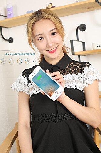 iPhone 6S Coque batterie Baidatong Ultra fin Coque batterie étendue pour iPhone 6(2015)/iPhone 6S (2017) (11,9cm) avec capacité de 2850mAh/100% batterie supplémentaire Gold 5 sets