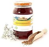 Buchweizen-Honig von ImkerPur®, 1200g, kaltgeschleudert, kräftig-herb, mit einer kräftigen Getreide-Note
