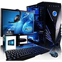 """VIBOX Centre 4SW Gaming PC Computer with War Thunder Game Voucher, Windows 10 OS, 22"""" HD Monitor (4.0GHz AMD FX Quad-Core Processor, Nvidia GeForce GTX 1050 Graphics Card, 16GB RAM, 1TB HDD)"""